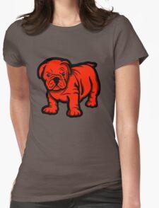 Grumpy Bull Dog Puppy Red T-Shirt