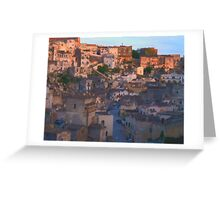 Evening in Matera Greeting Card
