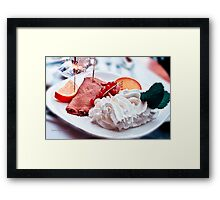 Sparkling Crepes and whipped Cream for an Afternoon Delight - Paris, France Framed Print