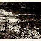 Cairns at the Mumlava river by Lenka