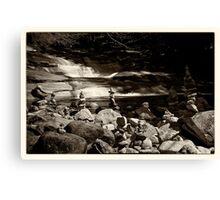 Cairns at the Mumlava river Canvas Print