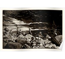 Cairns at the Mumlava river Poster