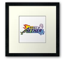 Rivals of Aether Logo Pixel print Framed Print