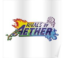 Rivals of Aether Logo Pixel print Poster