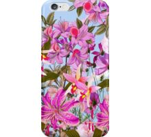 Girly pink cute lillies orchids flowers pattern iPhone Case/Skin