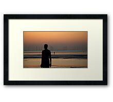 The beach men Framed Print