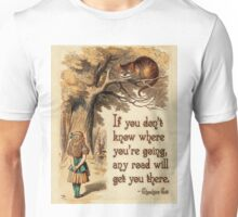Alice in Wonderland Quote - We're All Mad Here - Cheshire Cat Quote - 0237 Unisex T-Shirt