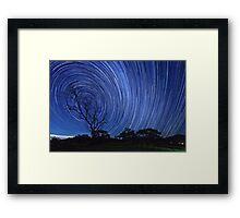 Startrails on a Moonless night Framed Print
