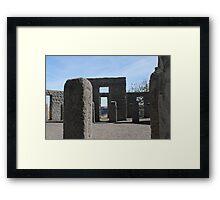 Inside Stonehenge Washington State Framed Print