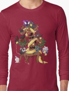 Ghostly Christmas Long Sleeve T-Shirt