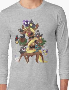 Ghostly Christmas Long Sleeve T-Shirt