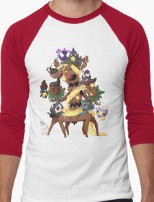 Ghostly Christmas Men's Baseball ¾ T-Shirt