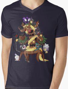 Ghostly Christmas Mens V-Neck T-Shirt