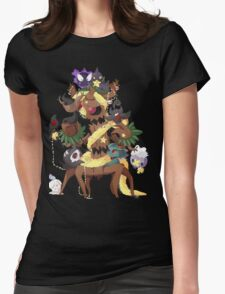 Ghostly Christmas Womens Fitted T-Shirt