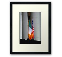 Star spangled tricolour Framed Print
