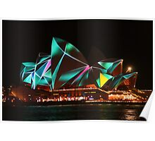 Opera House Vivid lights Poster