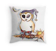 Owl in Sox Throw Pillow