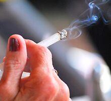 Female smoker. by oscarcwilliams