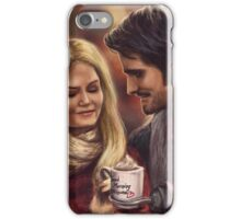 Hot Chocolate In Autumn iPhone Case/Skin