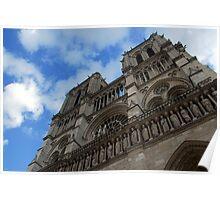 Notre Dame facade-Paris, France Poster