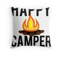 Happy Camper Campfire Outdoor Throw Pillow
