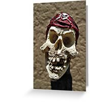 Hello there little dead guy. Greeting Card