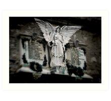 War memorial statue-Lake Como, Italy Art Print