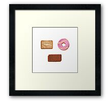 Biscuits: Custard Cream, Party Ring and Bourbon Framed Print