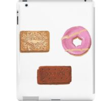 Biscuits: Custard Cream, Party Ring and Bourbon iPad Case/Skin
