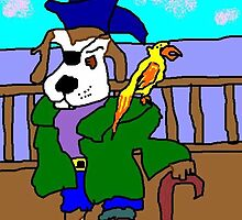 Pirate Pup And His Parrot Pete by pinkyjainpan