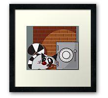 Raccoon Thief Framed Print