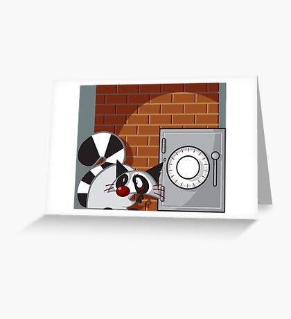 Raccoon Thief Greeting Card