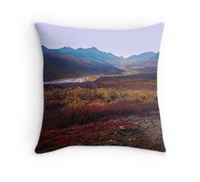 Tombstone in the Fall Throw Pillow