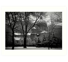 bleak mid winter-Montreal, Canada Art Print