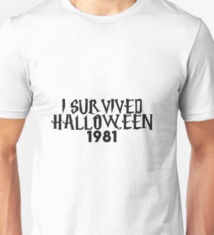 i survived halloween 1981 Unisex T-Shirt