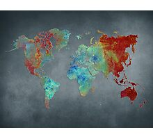 World map metal Photographic Print