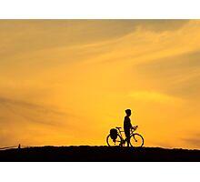 Riding into Sunset Photographic Print