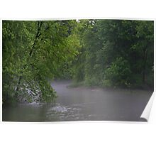 A Foggy Evening on the River Poster