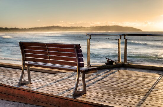 Dee Why beachside bench by Jason Ruth