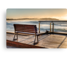 Dee Why beachside bench Canvas Print