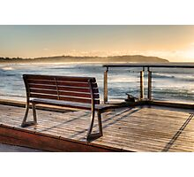 Dee Why beachside bench Photographic Print