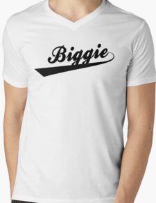 Biggie Script Mens V-Neck T-Shirt
