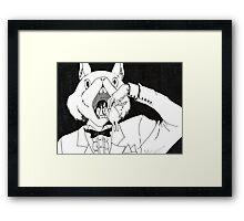 Bunny Cannibalism Framed Print