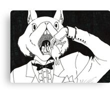 Bunny Cannibalism Canvas Print