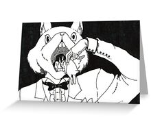 Bunny Cannibalism Greeting Card