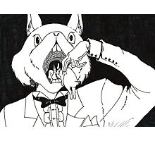 Bunny Cannibalism Photographic Print