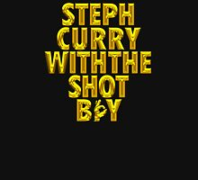 Steph Curry With The Shot Boy [With 3 Sign] Shiny Gold Unisex T-Shirt