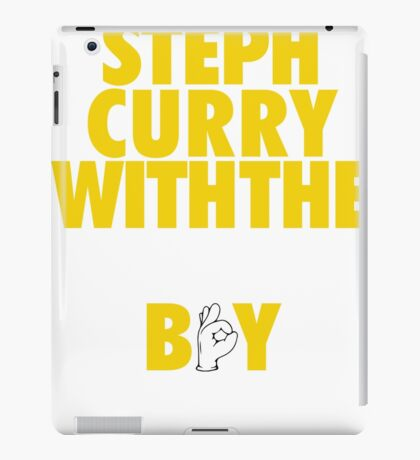 Steph Curry With The Shot Boy [With 3 Sign] Gold/White iPad Case/Skin