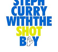 Steph Curry With The Shot Boy [With 3 Sign] Blue/Gold by OGedits