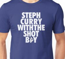 Steph Curry With The Shot Boy [With 3 Sign] White Unisex T-Shirt